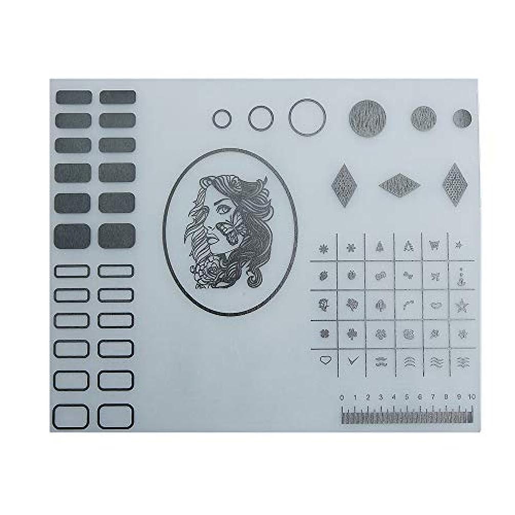測定保守可能効能Decdeal ネイルアートテーブルマット 折り畳み式パッド マニキュアクッション ミニ シリコーン ウォッシャブル ひじかけ マニキュアツール