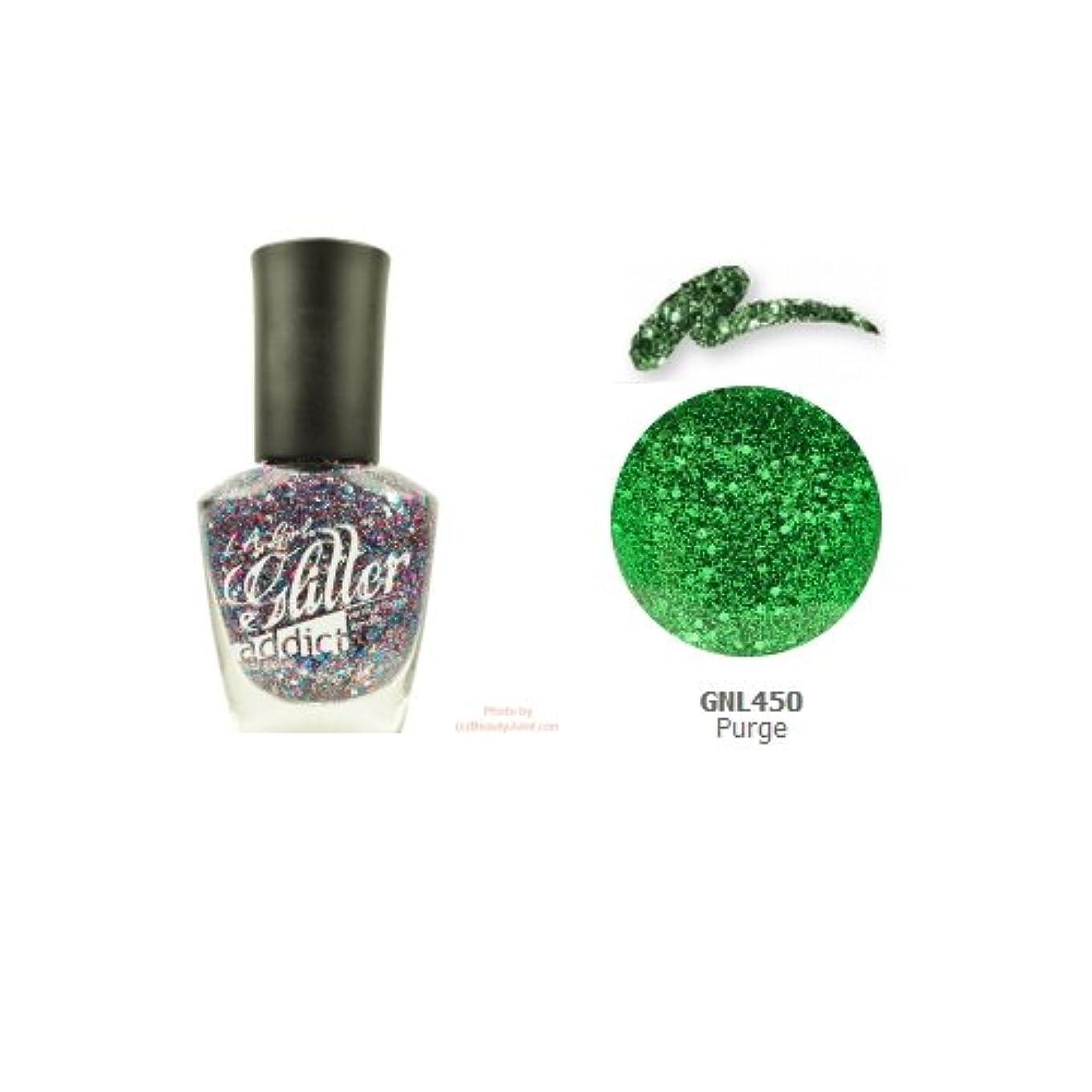 化学ガラガラ乱暴な(6 Pack) LA GIRL Glitter Addict Polish - Purge (並行輸入品)