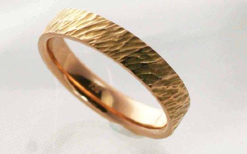 [해외]각인 무료 망치 눈 수제 핸드 메이드 결혼 반지 메리지 링 K18 핑크 골드 페어링/Engraved free hammer handmade handmade wedding ring marriage ring K18 pink gold pairing