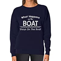 Tstars - What Happens On The Boat Stays On The Boat Women Sweatshirt