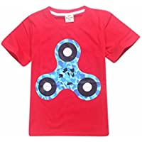 DaySeventh Boys' Hand Spinner T-Shirt Children Printing Top Clothing