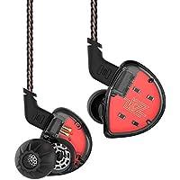 KZ ES4 2pin イヤホン 高音質 重低音 イヤホン Hifi ヘッドセット1BA+1DDを搭載 ハイブリッド イヤホン 2ドライバ イヤホン カナル型 高遮音性 密閉型 中華イヤホン スポーツ イヤフォン ヘッドホン リケーブル 着脱式 3.5mm プラグ Yinyoo (ブラック)