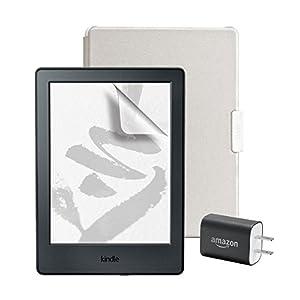 スターターセット (Amazon純正 Kindle用保護カバー ホワイト/グレー + 保護フィルム + Amazon 5W USB 充電器 )