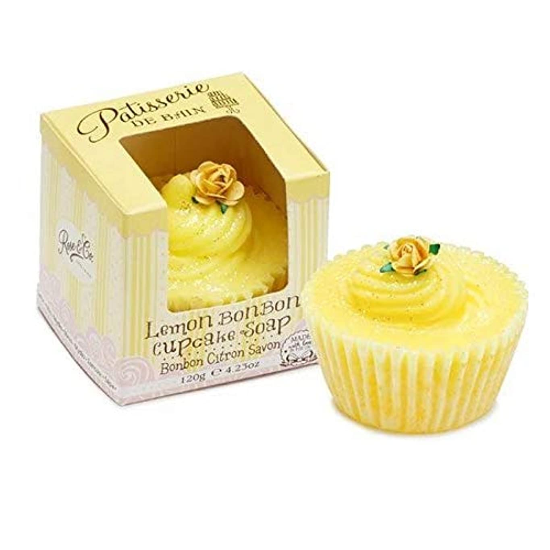 大胆縫う前兆[Patisserie de Bain ] パティスリー?デ?ベインレモンボンボンカップケーキソープ120グラム - Patisserie de Bain Lemon Bon Bon Cupcake soap 120g...