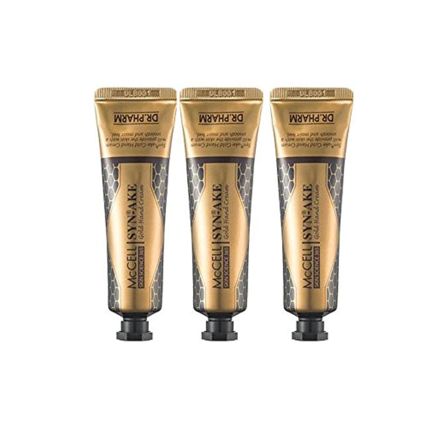 識別間違いなく薄汚いドクターパム マクセル シンエイク ハンドクリーム 3本セット(30g*3ea) Dr.Pharm McCELL Synake Gold Handcream 30g*3ea