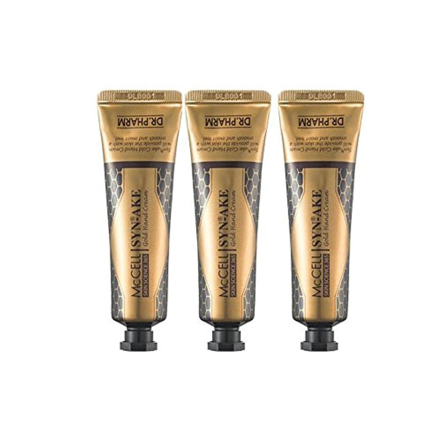 エンドテーブル炎上カイウスドクターパム マクセル シンエイク ハンドクリーム 3本セット(30g*3ea) Dr.Pharm McCELL Synake Gold Handcream 30g*3ea