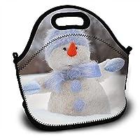 ランチバッグ 大容量弁当バッグ ファミリーバッグ オシャレ男女兼用バッグ 冬クリスマス雪だるま帽子 通勤 通学バッグ 面白いバッグ 創意柄 可愛いアニマル バッグ