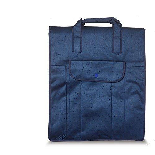 つむぎ織り 和装着物バッグ あずま姿 No.797 4色から選べます【きものバック/着物ケース/和装バッグ/着付け/収納】 (紺)