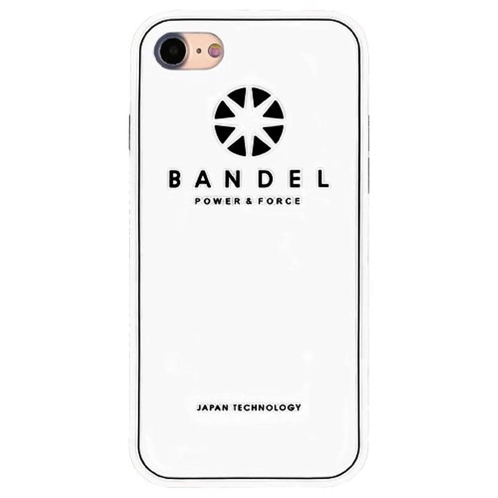 地理統合する甘美なバンデル(BANDEL) ロゴ iPhone 8 Plus専用 シリコンケース [ホワイト×ブラック]