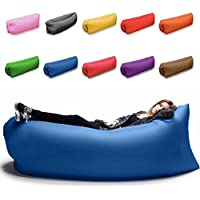 アウトドア 海 山 エア クッション マット ベッド ソファ チェア ハンモック ファスト スリップ ベンチ 家具 バッグ 寝袋 ビームバッグ キャンプ (グリーン)