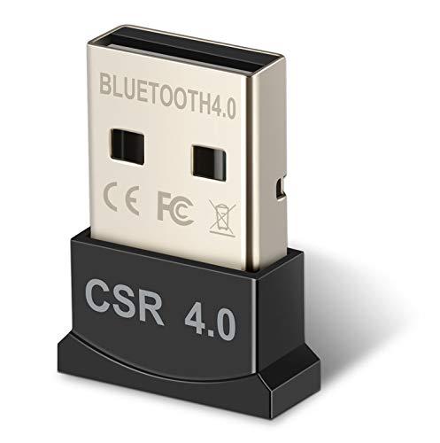 Bluetooth4.0USBアダプタ,ワイヤレスブルートゥース USBドングル Windows10 apt-X 対応 EDR/LE対応(省エネ)CSR4.0 無線 Bluetoothアダプタ レシーバ ゥー 超小型 ドングル