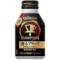 ジョージアヨーロピアン香るブラック 290mlボトル缶×24本×【4ケース】