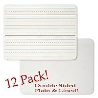 Charles Leonard Magnetic Dry Erase Lapboard、ハンドヘルドホワイトボード、9x 12インチ、2Sided Lined /プレーン、ホワイト、12のセットとして販売ボード( 35135–12)