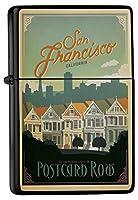 Petrol lighter ライター Printed San Francisco Painted Ladies townhouses