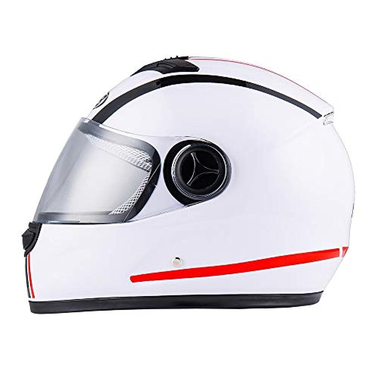 違う豚ヒールSafety 防曇フルフェイスヘルメットオートバイヘルメット/電気自動車ヘルメット/防曇ヘルメット男性と女性黒/白/耐久性 (色 : White)