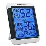 ThermoPro湿度計デジタル 温湿度計室内 最高最低温湿度表示 LCD大画面温度計 タッチスクリーンとバックライト機能あり 置き掛け両用タイプ マグネット付TP55