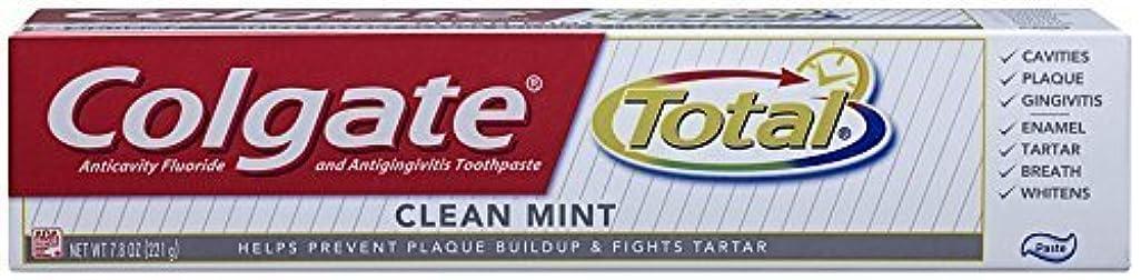 民主主義プラスチック会員コルゲート クリーンミント 歯磨き粉 7.8OZ Colgate Total Original Toothpast Clean mint
