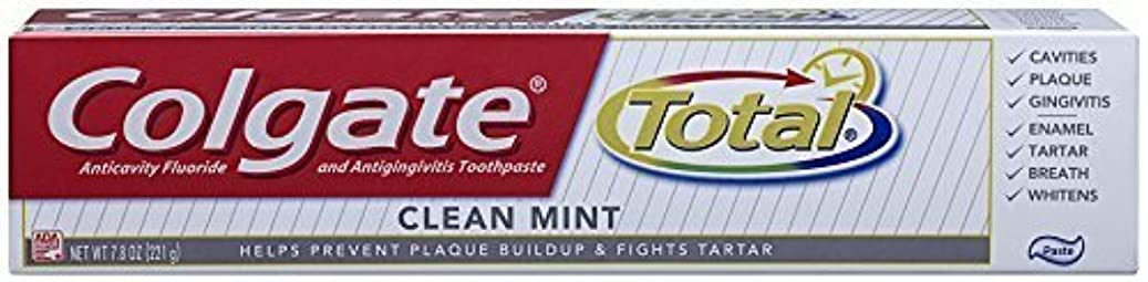 地域のスクランブルフィットコルゲート クリーンミント 歯磨き粉 7.8OZ Colgate Total Original Toothpast Clean mint