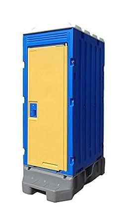 仮設トイレ PE製 軽水洗フットポンプ式 和式
