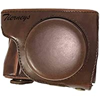 Tierneys [ティアニーズ] Panasonic LUMIX用 高級合皮レザー カメラケース/カバー ネックストラップ付きGF7/8 GF9 GF10 GF90