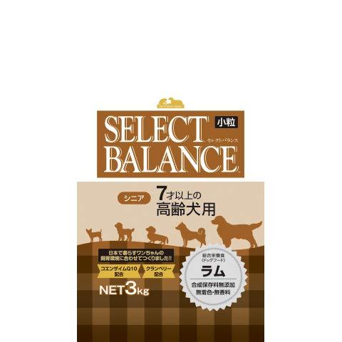 BALANCE(セレクトバランス) ドッグフード シニア 7才以上の高齢犬用 ラム 小粒 3kg 1袋 ベッツ・チョイス・ジャパン