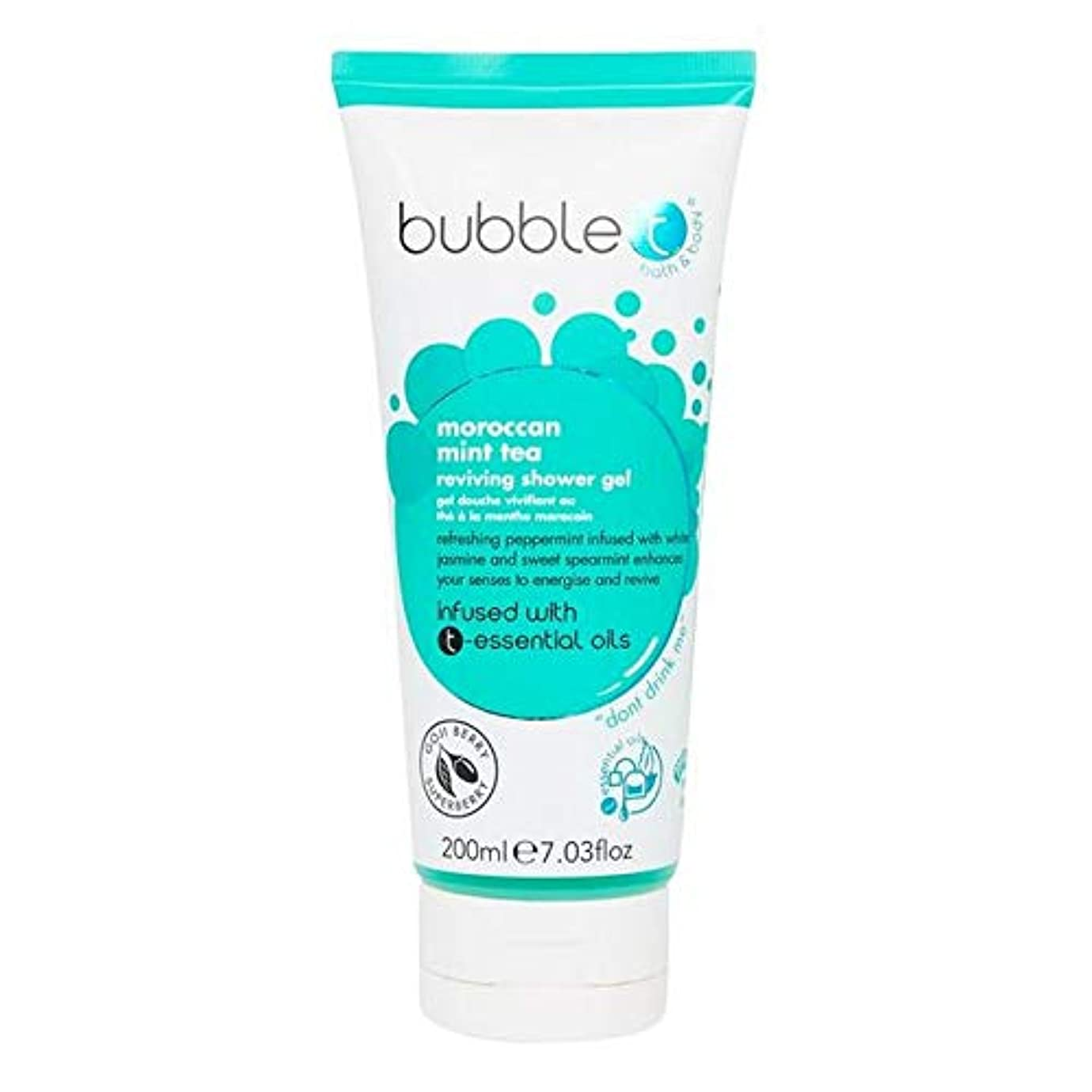 イディオムシルクメタルライン[Bubble T ] バブルトン化粧品シャワージェル、モロッコのミントティーを200ミリリットル - Bubble T Cosmetics Shower Gel, Moroccan Mint Tea 200ml [並行輸入品]