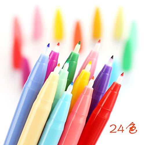 水性ペン、24色カラーペン、0.5㎜極細 ファイバー サインペン、メモ、サイン、デッサン、漫画に使用します