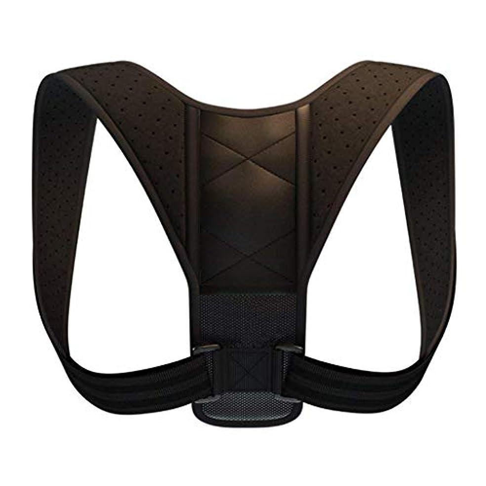 バルブドック筋肉のRoscloud@ 姿勢矯正ベルト - 首や肩の痛みを和らげるための不自由な姿勢を修正するアダルトメンズショルダーストレートストラップ 柔らかく快適 (色 : Upgrade black, サイズ さいず : XL)
