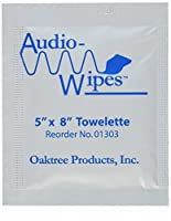 Audiowipes Disinfectant Towelettes 100 per box by OakTree