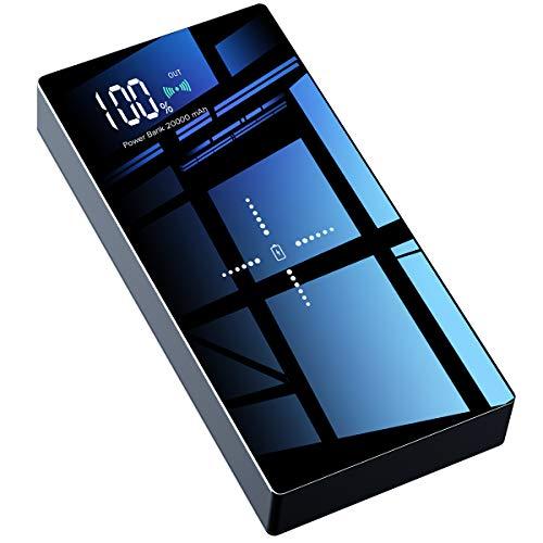 モバイルバッテリー Qi 20000mAh 大容量 ipho...
