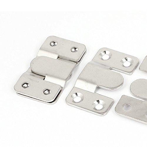 DealMux Wood Bed Rail Photo Frame Metal E-Type Hanger Hook Plates Buckle 10set