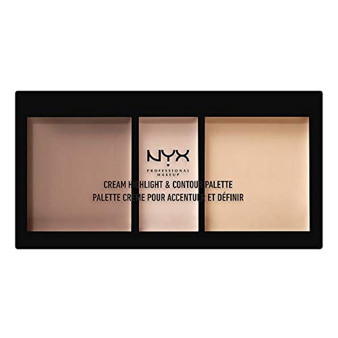 部族インゲン複数NYX(ニックス) クリーム ハイライト&コントゥアー パレット 01 カラー?ライト フェイスパレット