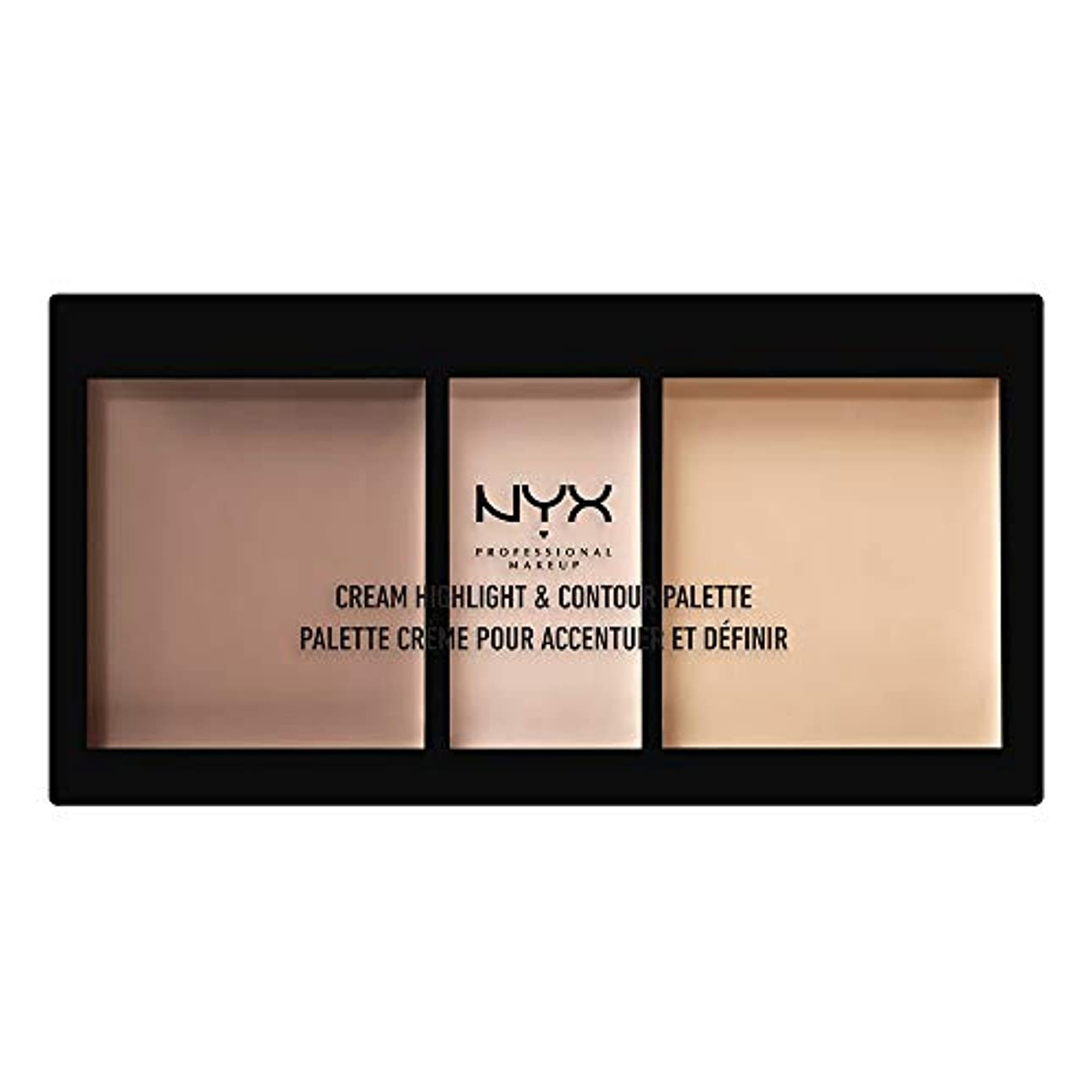 森林暴行著者NYX(ニックス) クリーム ハイライト&コントゥアー パレット 01 カラー?ライト フェイスパレット