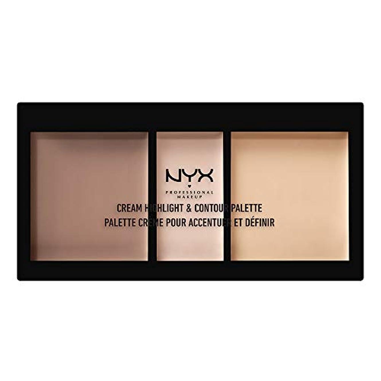 エスカレーター交じるヒューズNYX(ニックス) クリーム ハイライト&コントゥアー パレット 01 カラー?ライト フェイスパレット