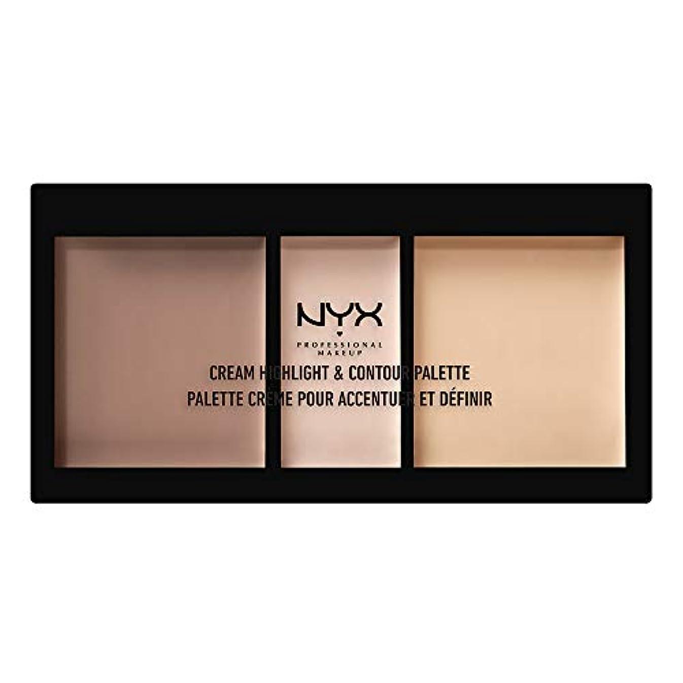 難しい水没割り当てNYX(ニックス) クリーム ハイライト&コントゥアー パレット 01 カラー?ライト フェイスパレット