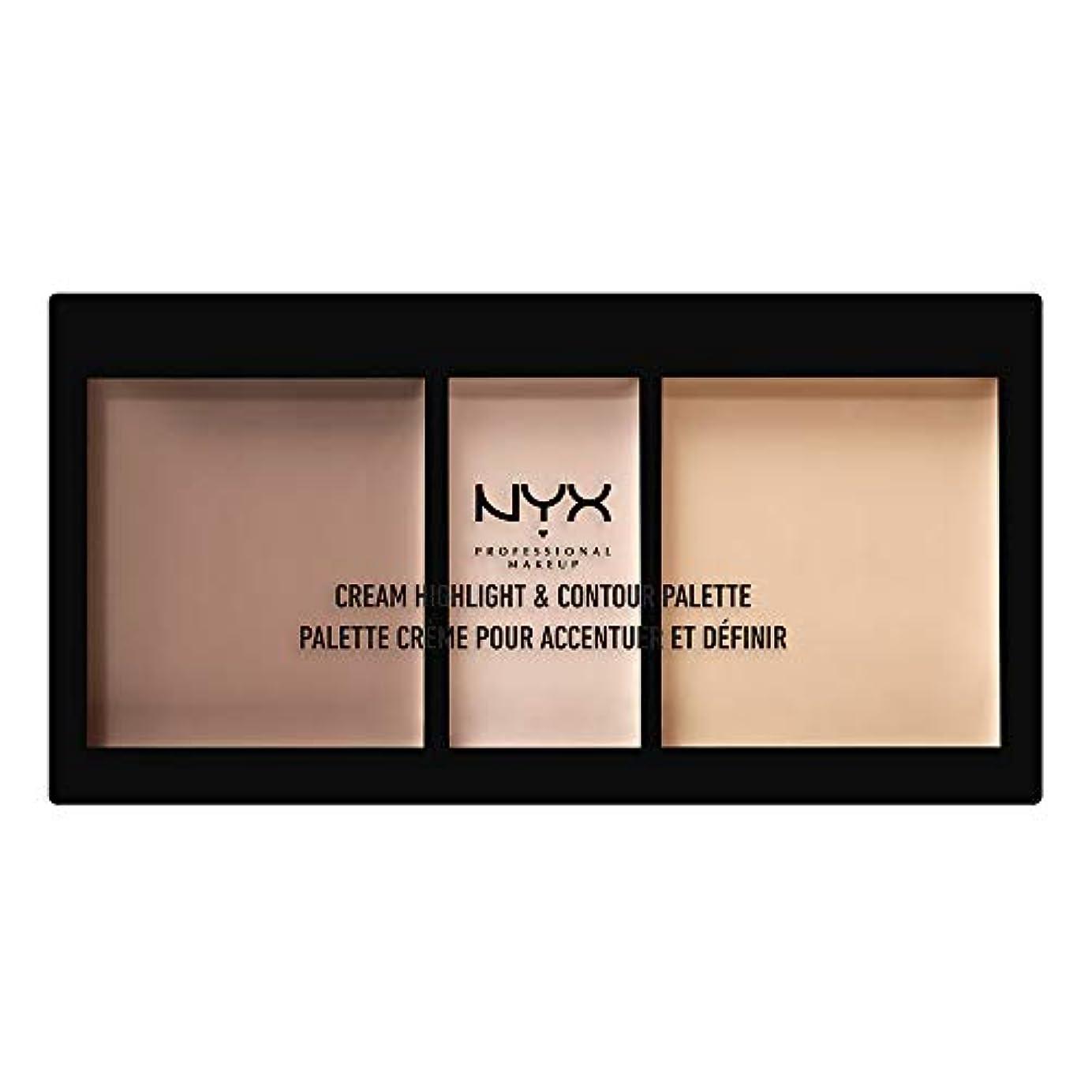 入り口円形病なNYX(ニックス) クリーム ハイライト&コントゥアー パレット 01 カラーライト