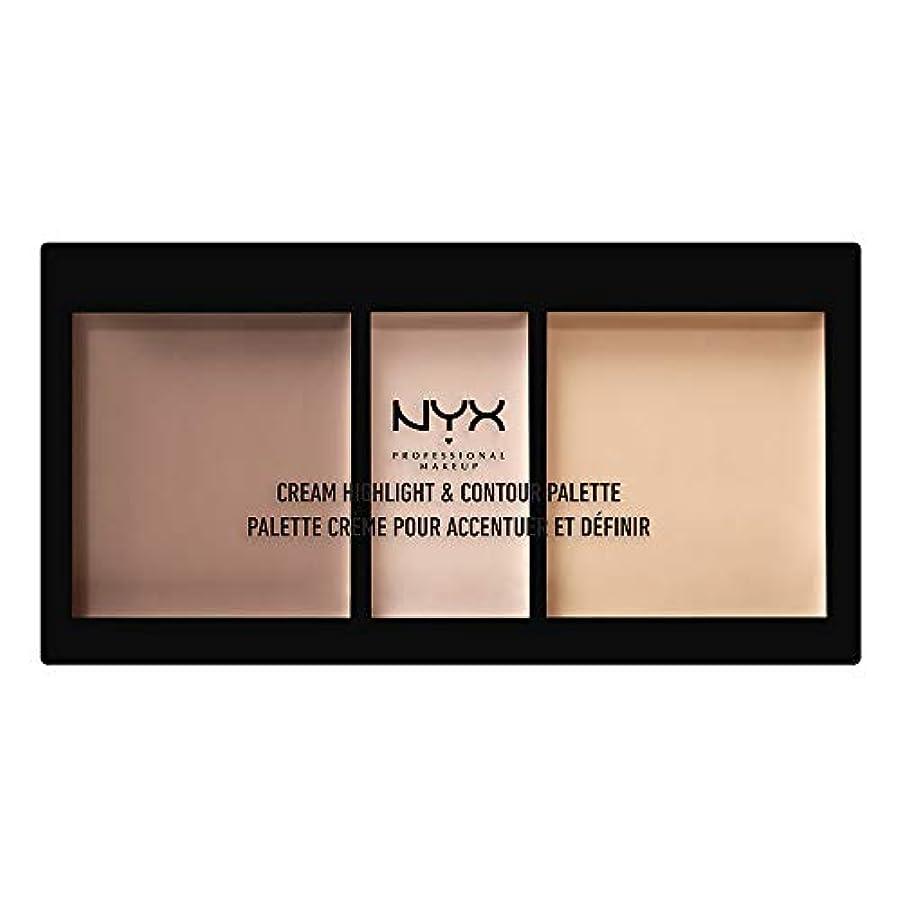 ウォーターフロント蘇生するにぎやかNYX(ニックス) クリーム ハイライト&コントゥアー パレット 01 カラー?ライト フェイスパレット