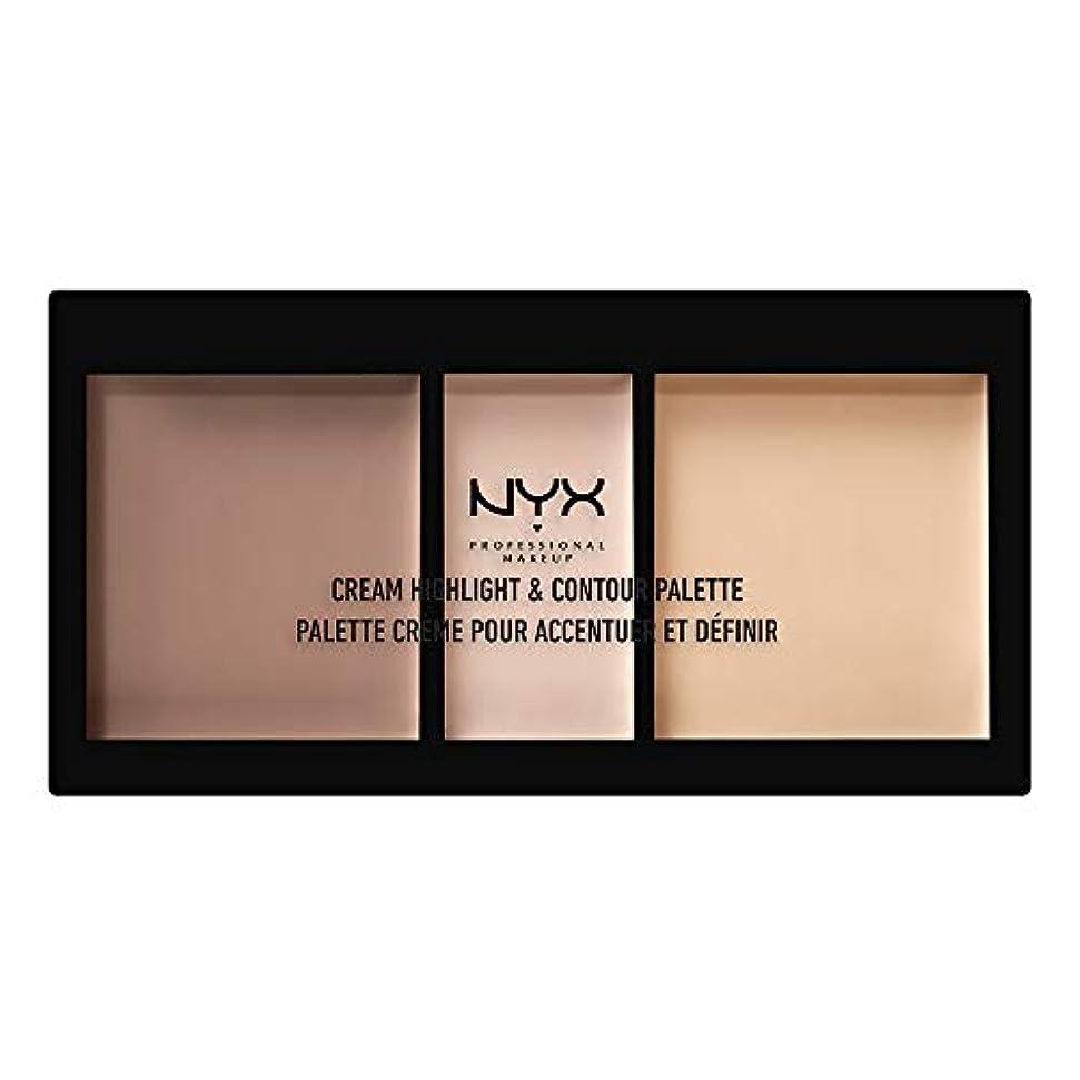 タオルエイリアン追加するNYX(ニックス) クリーム ハイライト&コントゥアー パレット 01 カラー・ライト フェイスパレット