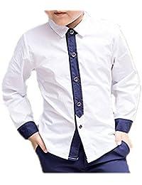 (ココイチヤ) COCO1YA 男の子 子供 卒業式 入学式 シャツ 子供 ワイシャツ 長袖 こども ワイシャツ 発表会