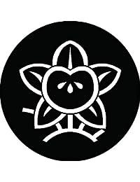 家紋シール 陰光琳枝橘紋 布タイプ 直径40mm 6枚セット NS4-0161
