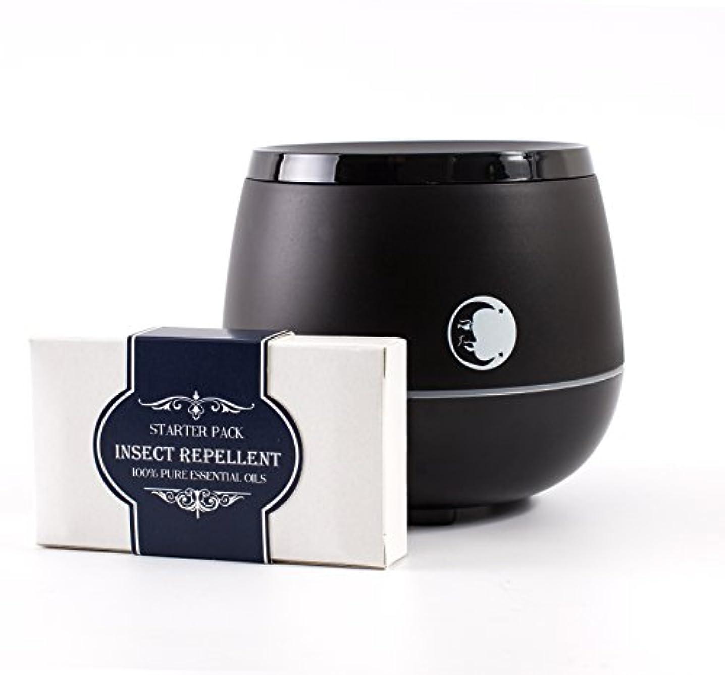 魔術大砲政治家のMystic Moments | Black Aromatherapy Oil Ultrasonic Diffuser With Bluetooth Speaker & LED Lights + Insect Repellent...