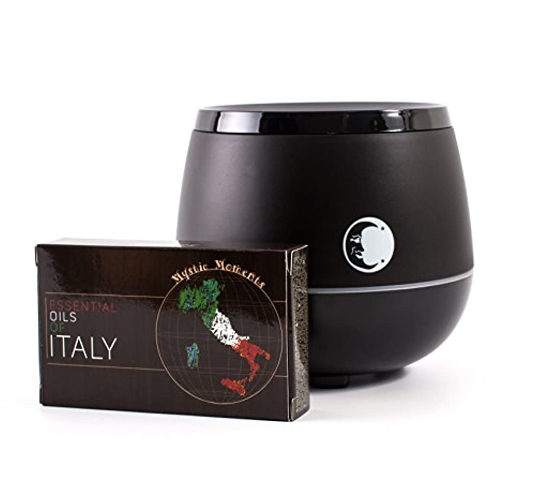 収入発行する吸い込むMystic Moments | Black Aromatherapy Oil Ultrasonic Diffuser With Bluetooth Speaker & LED Lights + Essential Oils...