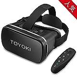 「2019最新版」 TOYOKI 3D VRゴーグル VR ヘッドセット コントローラ/リモコン 付き 4.0-6.0インチのスマホ対応 ブラック