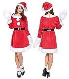 ホットキャンディサンタ コスプレ クリスマス サンタ レディース4点セット