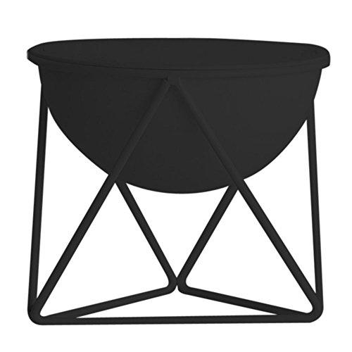 RoomClip商品情報 - ルームアンドホーム 鉢カバー スタンド 観葉植物 ガーデニング Dタイプ モノ 小 ブラック 16×17.5×14.5cm