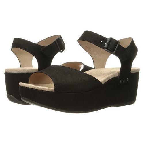 (ダンスコ)Dansko レディースサンダル・靴 Silvie Black Nubuck US Women's 5.5-6 23-23.5cm Regular [並行輸入品]