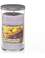 Yankee Candles Medium Pillar Candle - Lemon Lavender (Pack of 6) - ヤンキーキャンドルメディアピラーキャンドル - レモンラベンダー (x6) [並行輸入品]