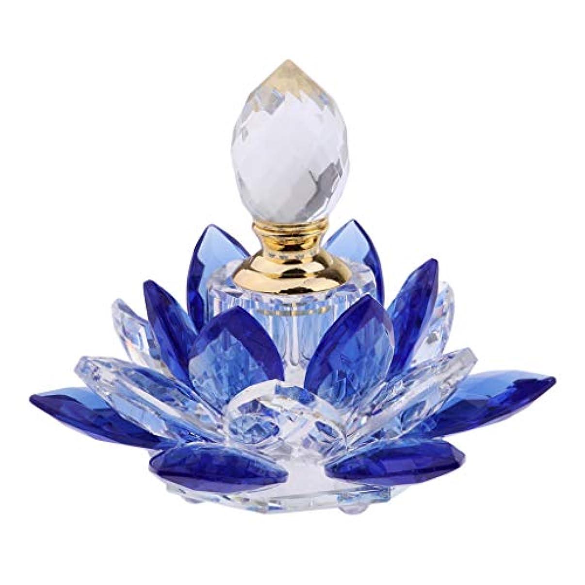 収縮遠洋の花ガラス 香水瓶 化粧水用瓶 ハスの花 フレグランスボトル 詰替用ボトル 旅行用品 携帯便利