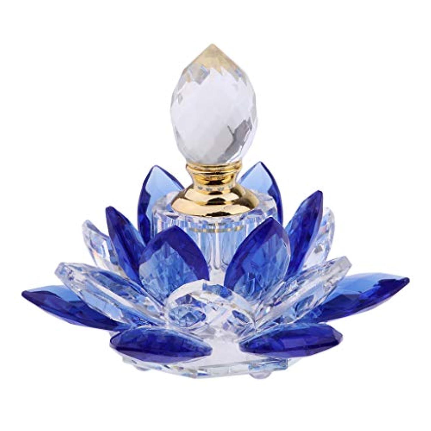 表面的な上シャベルガラス 香水瓶 化粧水用瓶 ハスの花 フレグランスボトル 詰替用ボトル 旅行用品 携帯便利