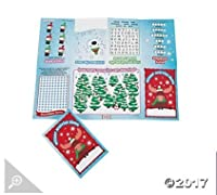 Paper Winter and Christmas Fold-Up Activity Sheets - 24 pc per order - Christmas stocking stuffers [並行輸入品]
